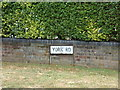 TL8528 : York Road sign by Geographer