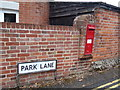 TL8528 : Park Road Victorian Postbox & Park Lane sign by Adrian Cable