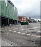 ST3188 : Quiet Newport bus stations on a Sunday by Jaggery