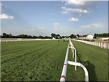 SU9477 : The finishing straight at Windsor Racecourse by Richard Humphrey