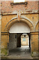 ST4126 : Passage through town hall, Langport by Derek Harper