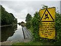 SE3368 : Danger of death notice, above Ox Close Lock by Christine Johnstone