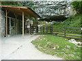 SD7571 : The entrance to Ingleborough Cave, Clapham by Humphrey Bolton
