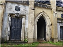 TQ2887 : The entrance to the Terrace Catacombs at Highgate Cemetery by Marathon