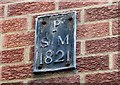 TG2308 : Church Alley - parish boundary marker by Evelyn Simak