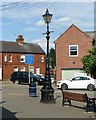 SK3516 : Victorian cast iron street lamp on The Green, Ashby-de-la-Zouch by Alan Murray-Rust