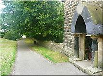 SE0724 : Entrance to Wainhouse Tower, Skircoat, Halifax by Humphrey Bolton