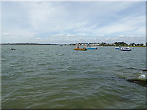 SZ1891 : Part of Christchurch Harbour viewed from Mudeford by Jeremy Bolwell