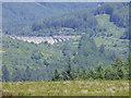 NS0683 : Loch Tarsan west dam by Thomas Nugent