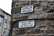 NT2574 : Street sign, Dublin Meuse Edinburgh New Town by Jim Barton