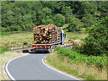 NS0584 : Log lorry on the B836 by Thomas Nugent