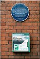 SD3627 : Blue plaque and defibrillator by Gerald England