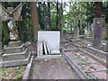 TQ2886 : The grave of Jeremy Beadle in Highgate Cemetery by Marathon