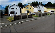 ST1888 : Detached houses, Navigation Street, Trethomas by Jaggery