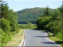 NS1081 : The B836 road at Glen Lean by Thomas Nugent