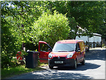 NS1181 : Royal Mail van in Clachaig by Thomas Nugent