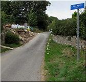 "SO9103 : Maximum vehicle width 7' 2"" ahead, Oakridge Lynch, Gloucestershire by Jaggery"