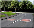 ST1989 : Addison Way speed bumps near a junction, Graig-y-rhacca by Jaggery