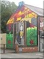 NZ2776 : Wall mural, High Pit Road, Cramlington by Graham Robson