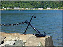 NS1780 : Anchor at Lazaretto Point by Thomas Nugent
