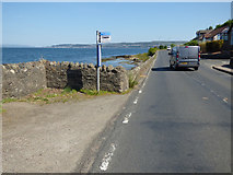 NS1879 : Bus stop on the A815 Marine Parade by Thomas Nugent