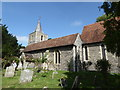 TR2157 : Littlebourne church, the south side by pam fray