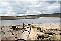 NZ0244 : Low water in Waskerley Reservoir by Trevor Littlewood