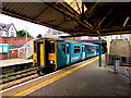 ST1586 : Penarth train arrives at Caerphilly station by Jaggery