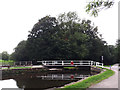 SE1338 : Hirst Wood swing bridge by Stephen Craven