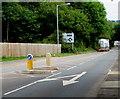 ST3092 : Pedestrian refuge, Newport Road, Llantarnam, Cwmbran by Jaggery