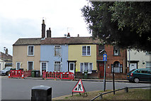 TG5307 : Cottages, Kent Square, Great Yarmouth by Robin Webster