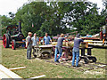 SO6533 : Much Marcle Steam Rally - sawing demonstration by Chris Allen
