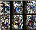 TG2208 : St Peter Mancroft church - east window detail by Evelyn Simak