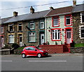 SS9390 : Red car and partly red house in Ogmore Vale by Jaggery