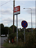 TM0932 : Manningtree Railway Station sign by Adrian Cable