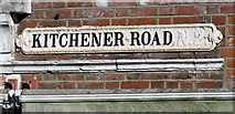 TQ2789 : Kitchener Road sign old style by Andrew Tatlow