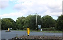 SU4639 : Roundabout on the A30, Sutton Scotney by David Howard