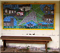 SO9103 : Colourful bus shelter interior, Oakridge Lynch, Gloucestershire by Jaggery