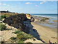 TG3830 : Cliff and beach access ramp, Happisburgh by Robin Webster