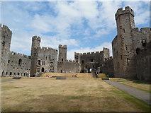 SH4762 : Inside Caernarfon Castle (2) by David Hillas