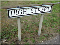 TM1131 : High Street sign by Adrian Cable