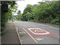 ST2992 : Start of the 20 zone, Pentre Lane, Cwmbran by Jaggery
