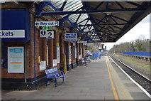 TQ0487 : Platform 2, Denham Station by N Chadwick