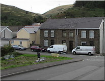 SS9390 : Vehicles and houses, Railway Terrace, Ogmore Vale by Jaggery