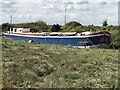 TF6119 : Barge on The Nar Loop in King's Lynn by Richard Humphrey
