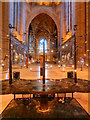 SJ3589 : Liverpool Cathedral, Chancel and the Great Space by David Dixon