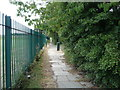 NZ3562 : Path beside playing fields, Chuter Ede School by JThomas