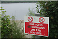 SJ0020 : No swimming, no fires at Lake Vyrnwy by Stephen McKay