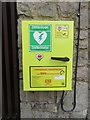 SJ1761 : Defibrillator/Diffibrilydd at Coed Moel Famau by John S Turner