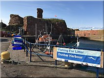 NT6779 : Lifeboat moored by Dunbar Castle by Jennifer Petrie